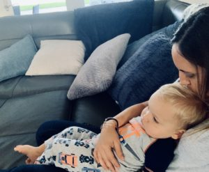 Toddler cuddle time - Amy & Alli
