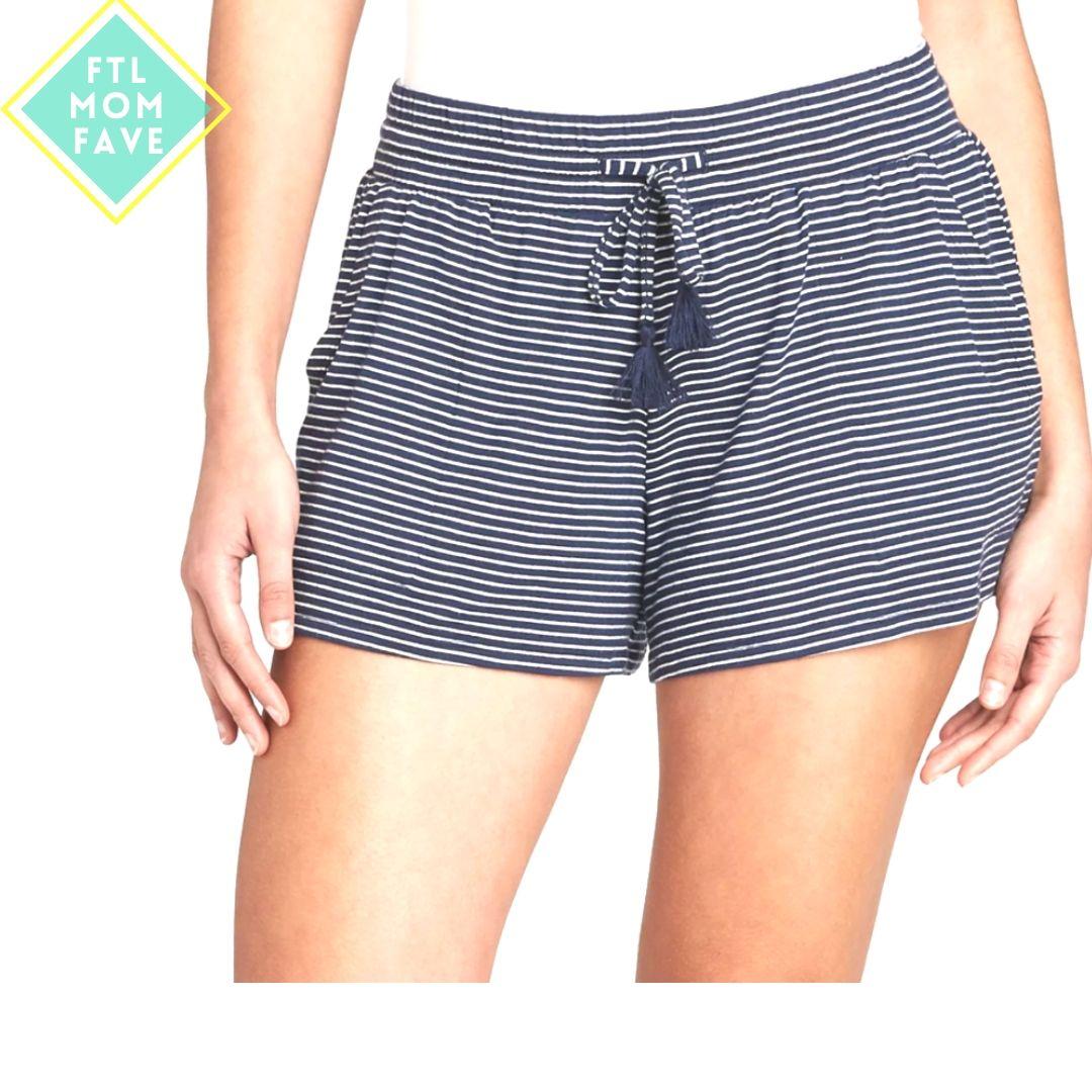 Striped Soft Pajama Shorts - FTL Mom Fave